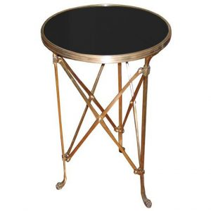 Directoire table in brass and marble