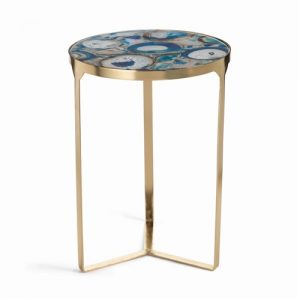 Agate mosaic side table