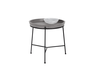 Concrete tray top end table