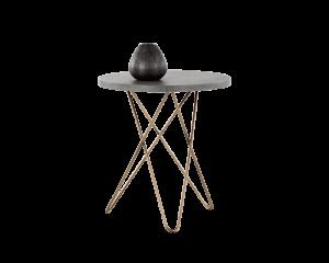 Concrete & gold hairpin base table