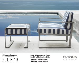 Del Mar Chair and Ottoman