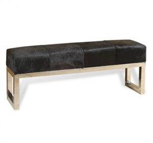 Black hide bench