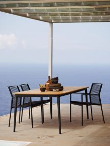 Edge dining with Core table